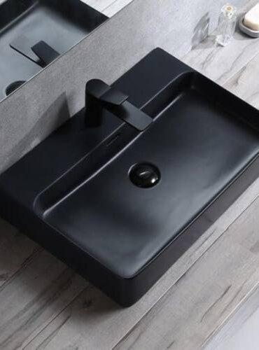 fekete mosdó